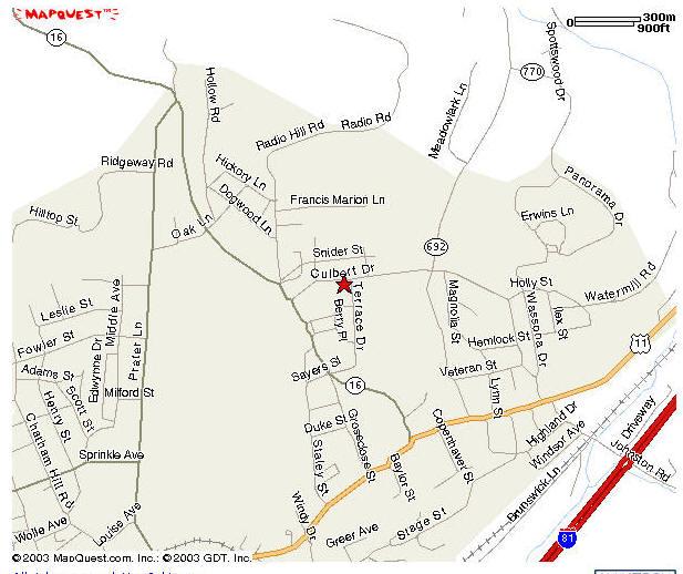 OMAC of Marion VA Map